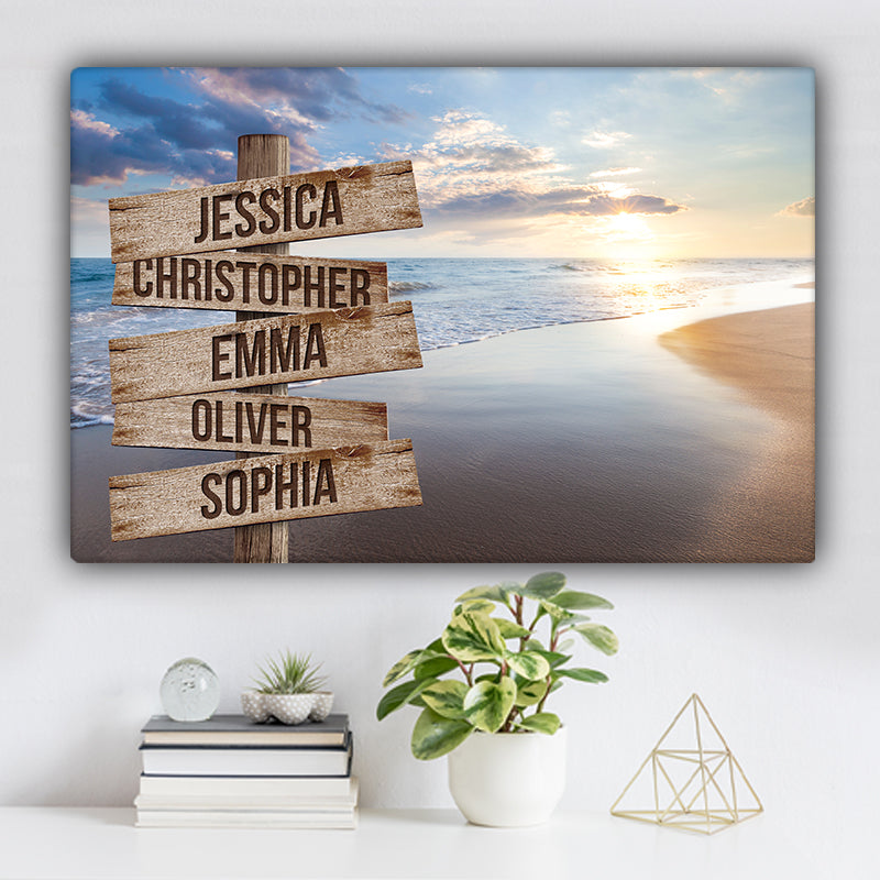 Beach V8 Color Family Names Premium Canvas