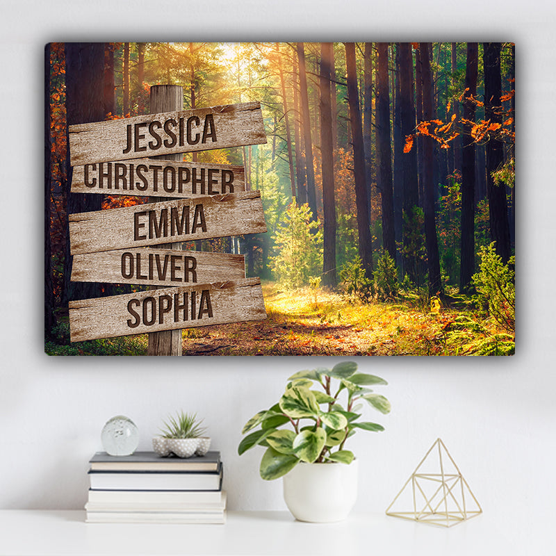 Forest During Autumn V1 Color Family Names Premium Canvas