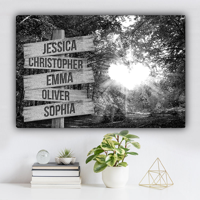 Love Canopy Family Names Premium Canvas