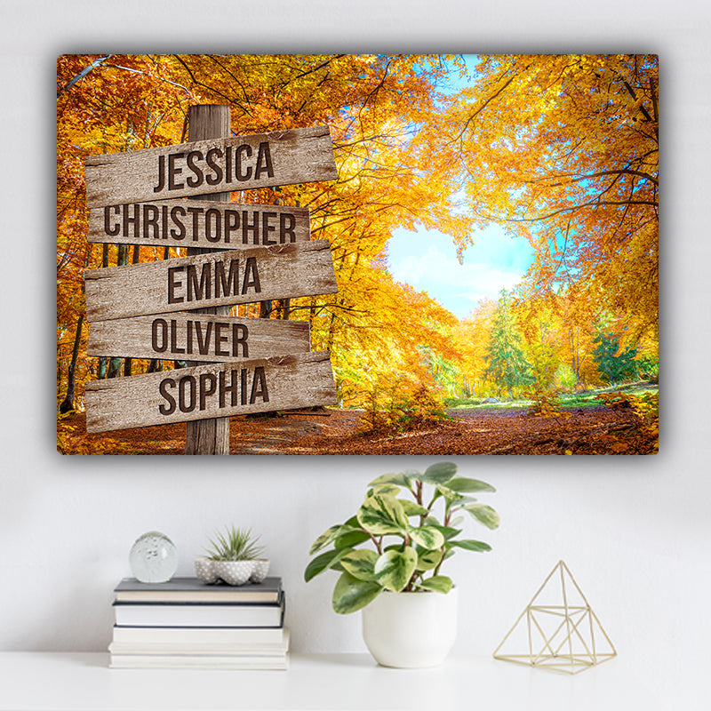 Love Canopy Color Family Names Premium Canvas