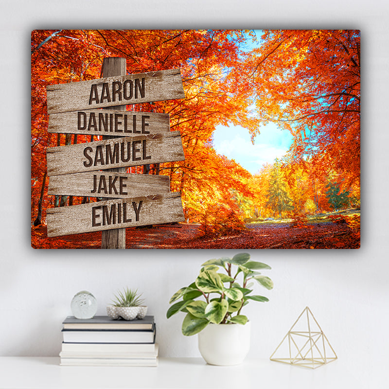 Love Canopy V2 Color Family Names Premium Canvas