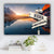 Mountain and Lake Dock V2 Color Established Date & Names Premium Canvas