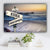 Ocean Dock V1 Color Established Date & Names Premium Canvas