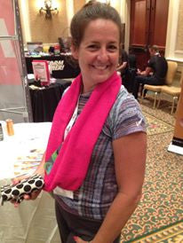 SweatSTR Scarf Towel Hot Pink