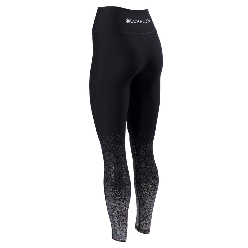 Echelon High Waisted Legging with Foil Metallic Detail