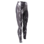 Echelon High Waisted Silver Foil Camo Print Legging