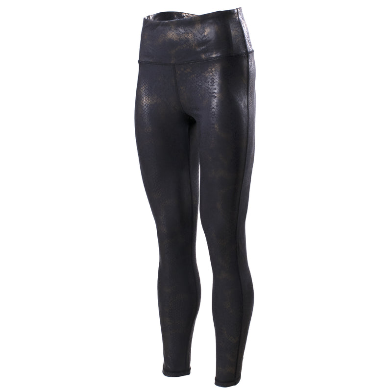 Echelon Black/Gold Snake Metallic HW Legging