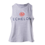 Echelon Women's Stacked Logo Cropped Muscle Tank