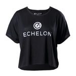 Echelon Women's Relaxed-Fit Stacked Logo Cropped Tee