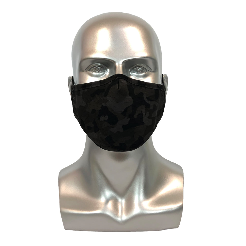 Military Camouflage Mask  - Black Grey