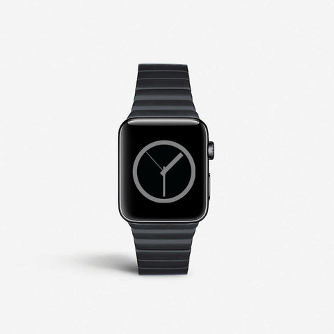 Space Link | For Apple Watch Space Black Coated Stainless Steel Link Strap - SoloLoopStrap