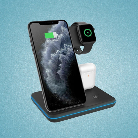 3 IN 1 Wireless Qi Fast Charging Smart Dock Station | For Smartphones - SoloLoopStrap