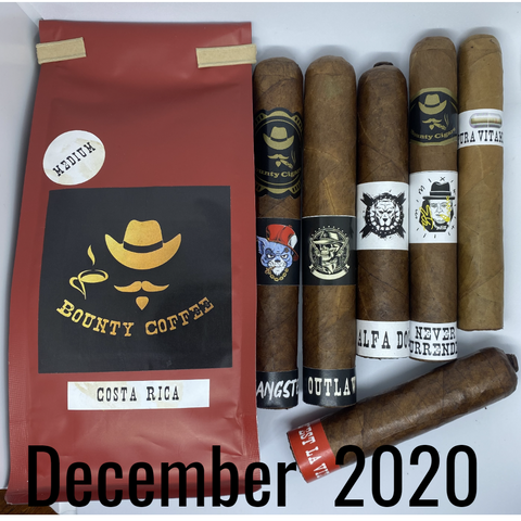 Bounty Coffee and Cigars December 2020 Bounty of The Month
