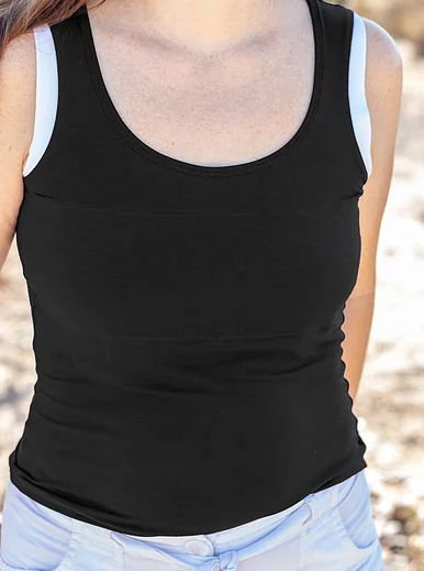 Black/White Simple Tank