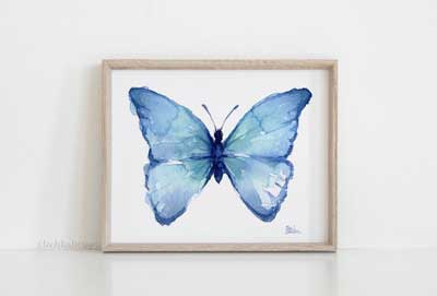 best butterfly paintings & prints