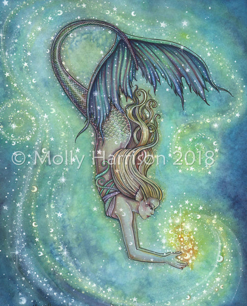 best mermaid art on etsy