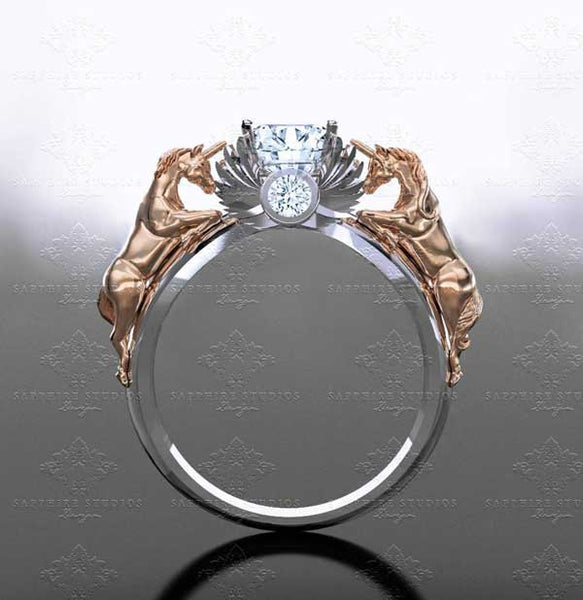 best unicorn rings real gold