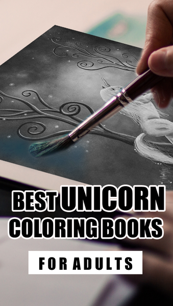 best unicorn coloring books and pages for adults