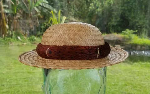 20 Inch Kona Lauhala Papale Derby Hat with 1.75 Inch Brim Made in Hawaii