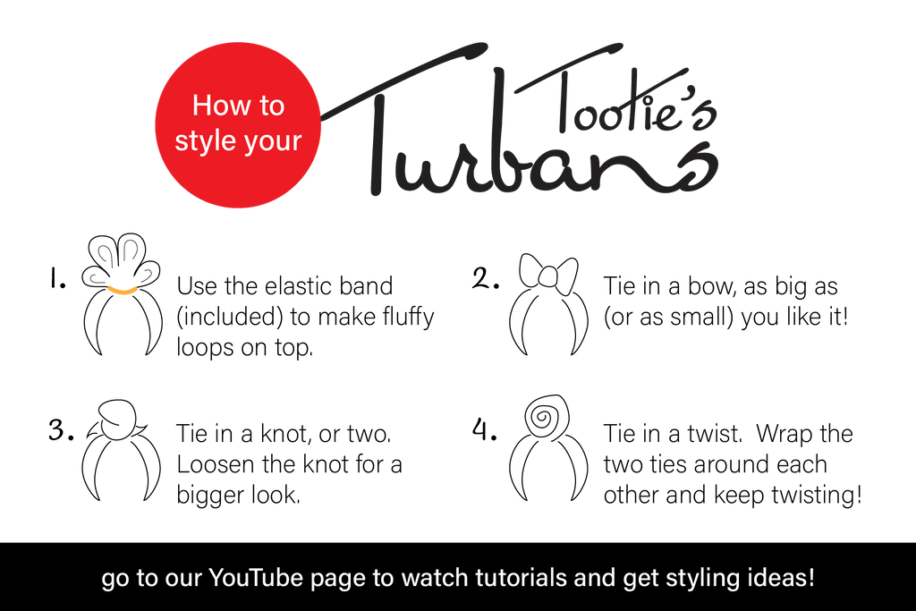 How to style your Tootie's Turban tutorial