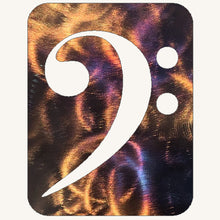 Load image into Gallery viewer, Bass Clef Metal Art