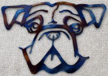 Load image into Gallery viewer, Bulldog Face Metal Art