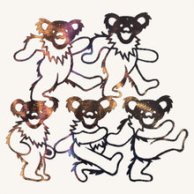 Load image into Gallery viewer, Grateful Dead Individual Dancing Bears Metal Art