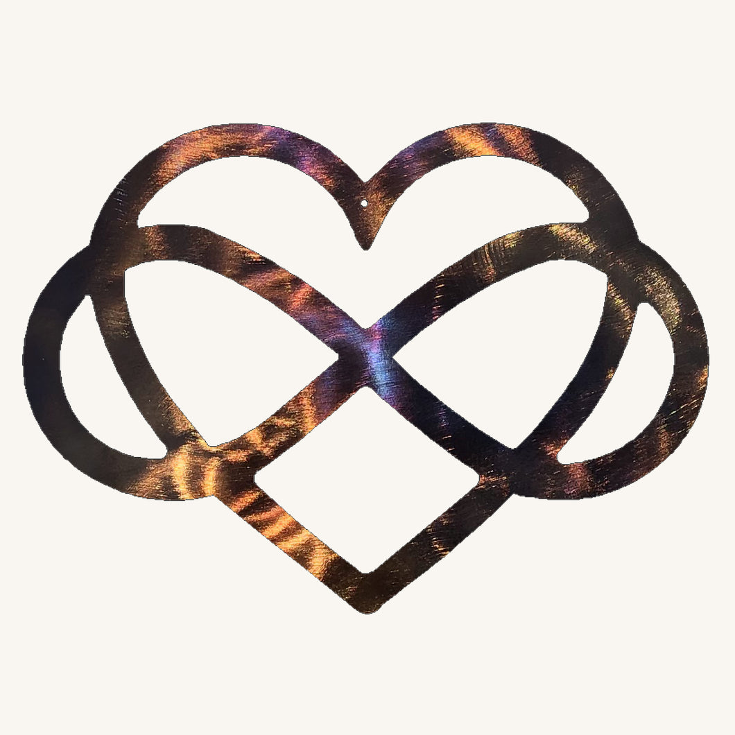 Heart Infinity Metal Art
