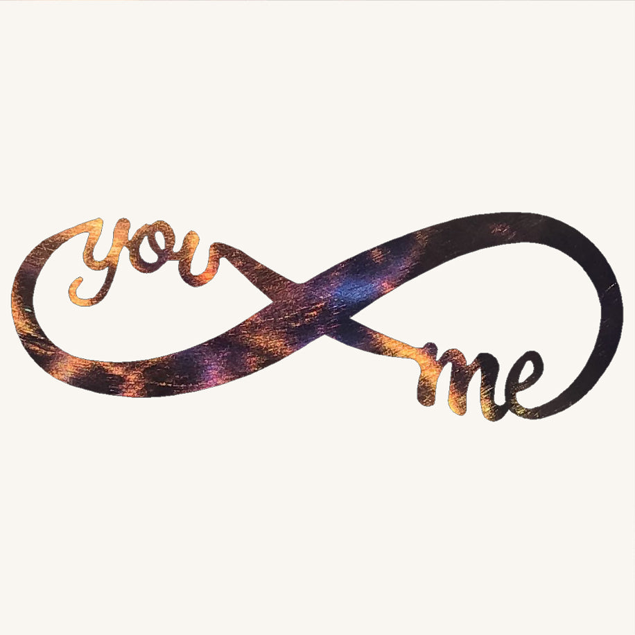 Infinity You and Me Metal Art