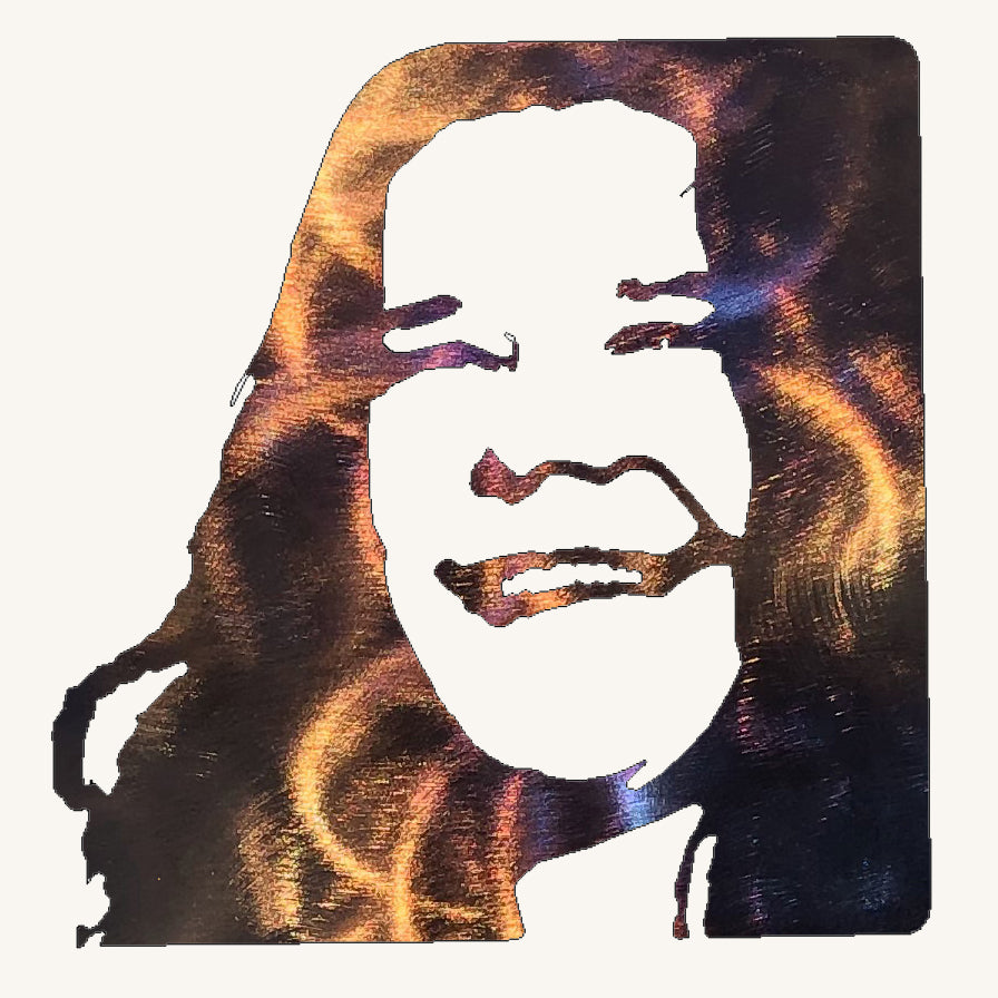 Janis Joplin Metal Art - Mountain Metal Arts