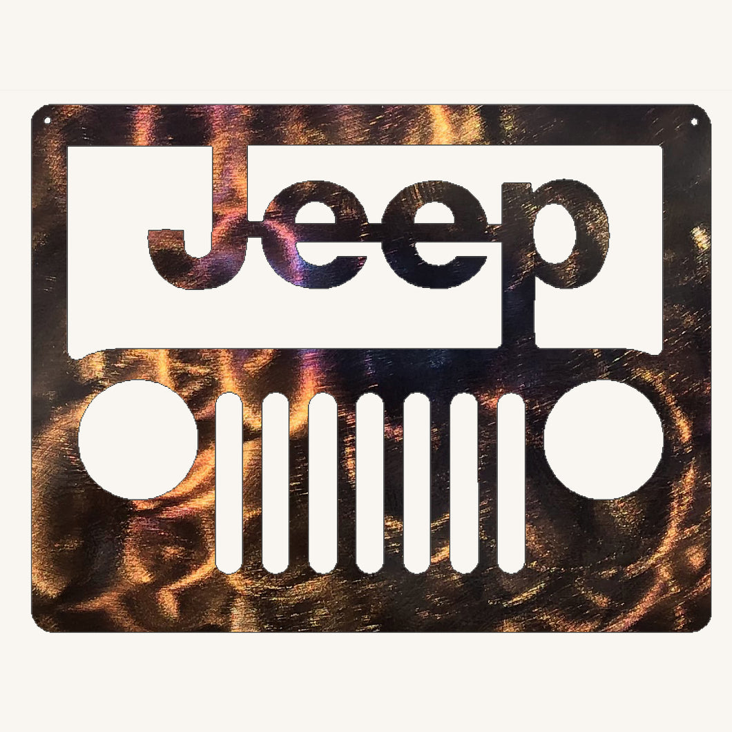 Jeep Metal Art