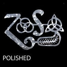 Load image into Gallery viewer, Led Zeppelin Zoso Four Symbols Metal Art
