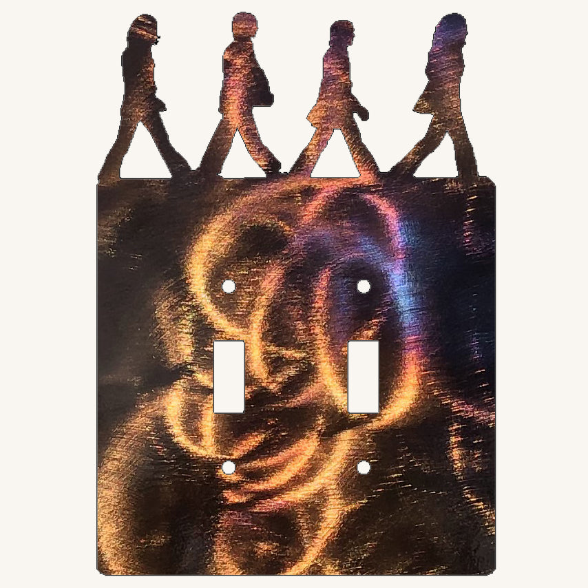 The Beatles Abbey Road Light Switch Cover Metal Art