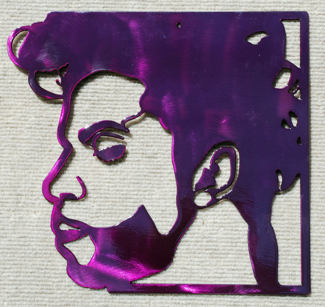 Prince Face Metal Art - Mountain Metal Arts