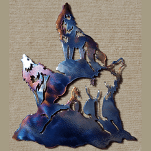 Load image into Gallery viewer, Wolf Song Night Metal Art (#103)