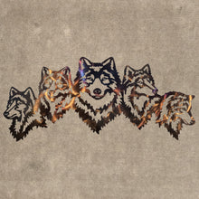Load image into Gallery viewer, Wolves - Family of Three Metal Art (#120)