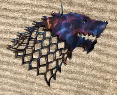 Game of Thrones Stark House Wolf Metal Art (#142) - Mountain Metal Arts