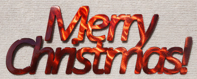 Merry Christmas Metal Wall Decoration - Mountain Metal Arts