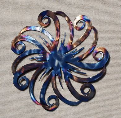 Flower Spiral Metal Art - Mountain Metal Arts