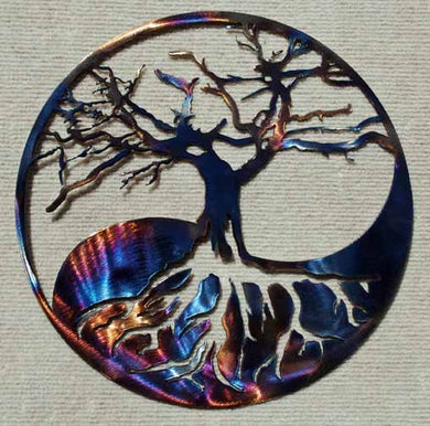 Yin Yang Tree Metal Art Sculpture - Mountain Metal Arts