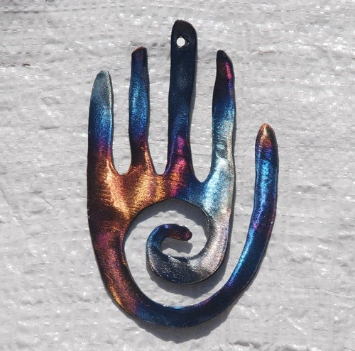 Healing Hand Metal Wall Art - Mountain Metal Arts