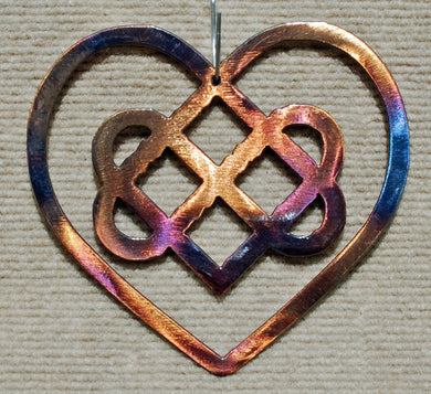 Celtic Heart with Knot Metal Art Sculpture - Mountain Metal Arts