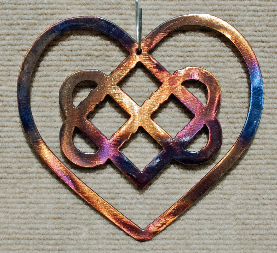 Celtic Heart with Knot Metal Art Sculpture