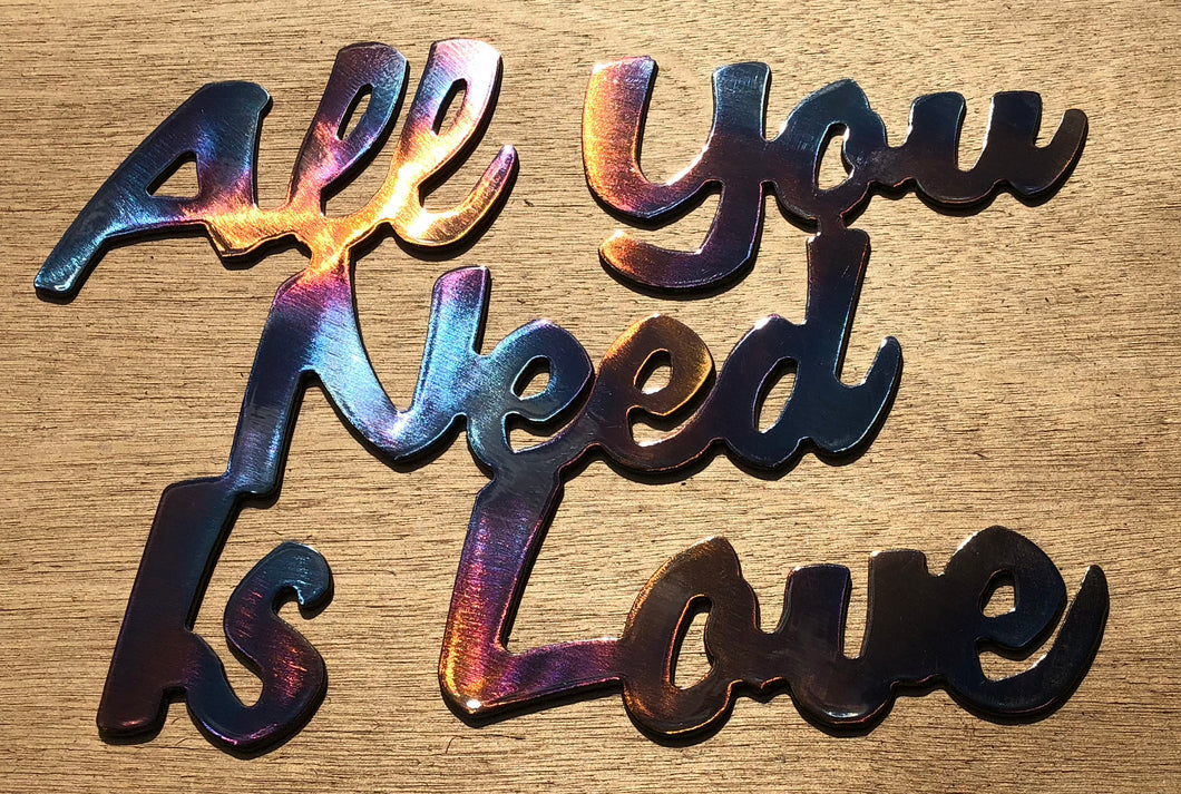 All You Need is Love Metal Art - 10