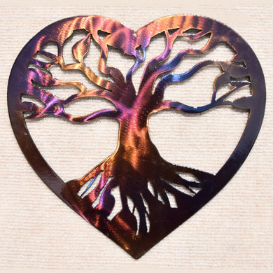 Tree in Heart Metal Art Sculpture - Mountain Metal Arts