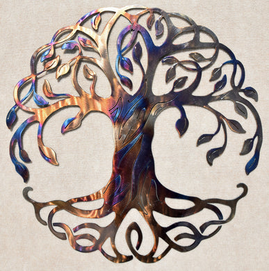 Tree of Life Irish Metal Art Sculpture - Mountain Metal Arts