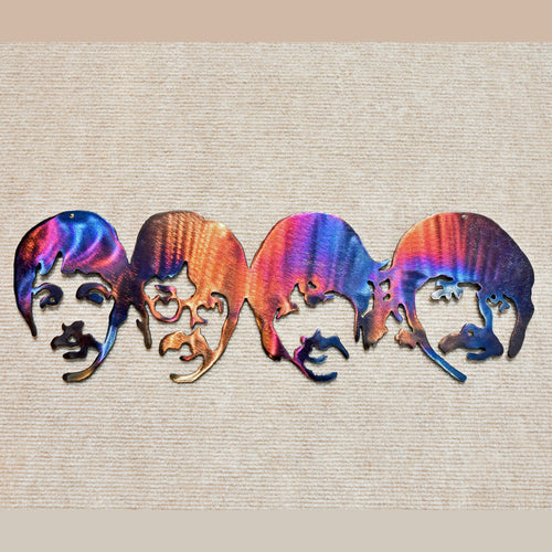 The Beatles Long Metal Art - Mountain Metal Arts