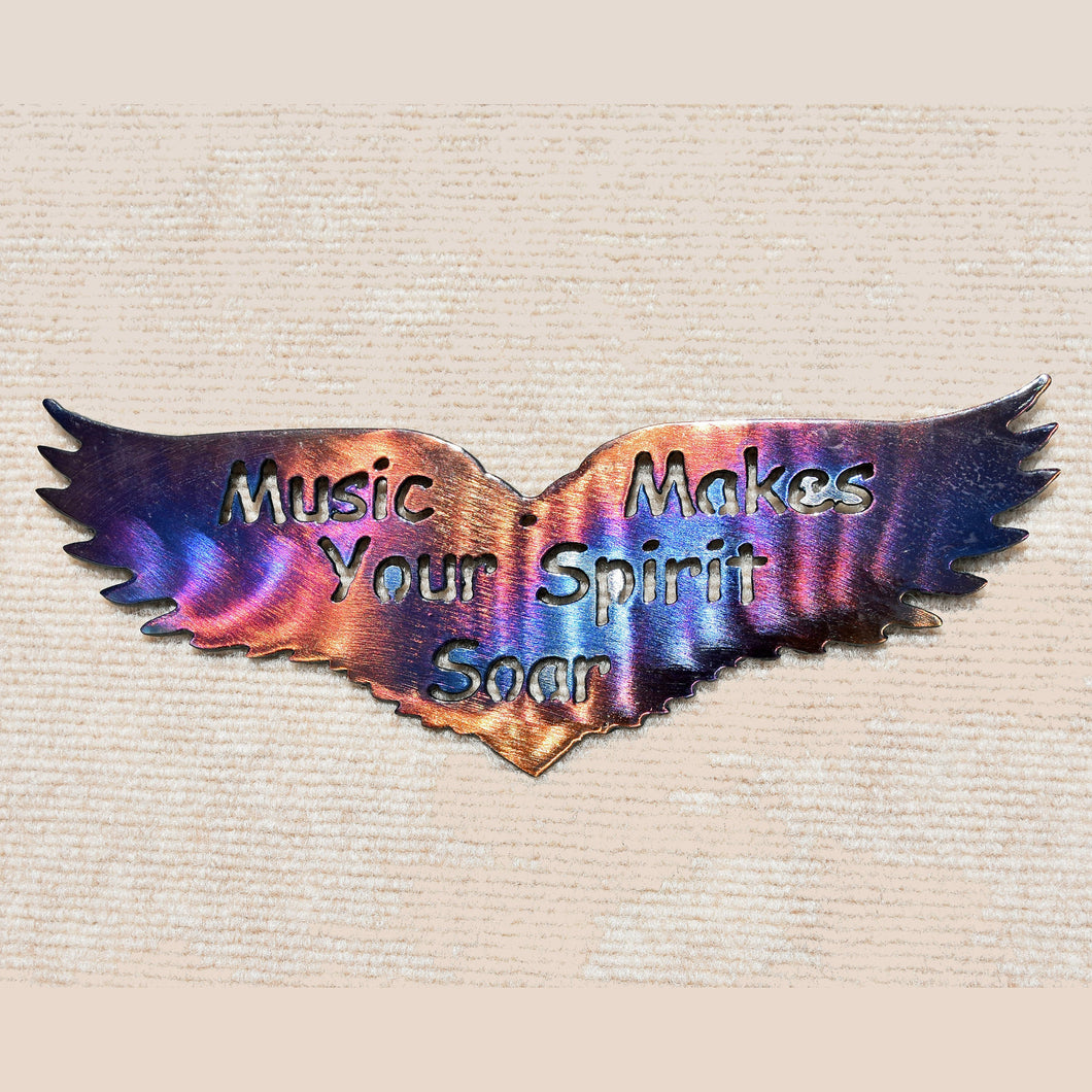 Music Makes Your Spirit Soar Metal Art Sculpture
