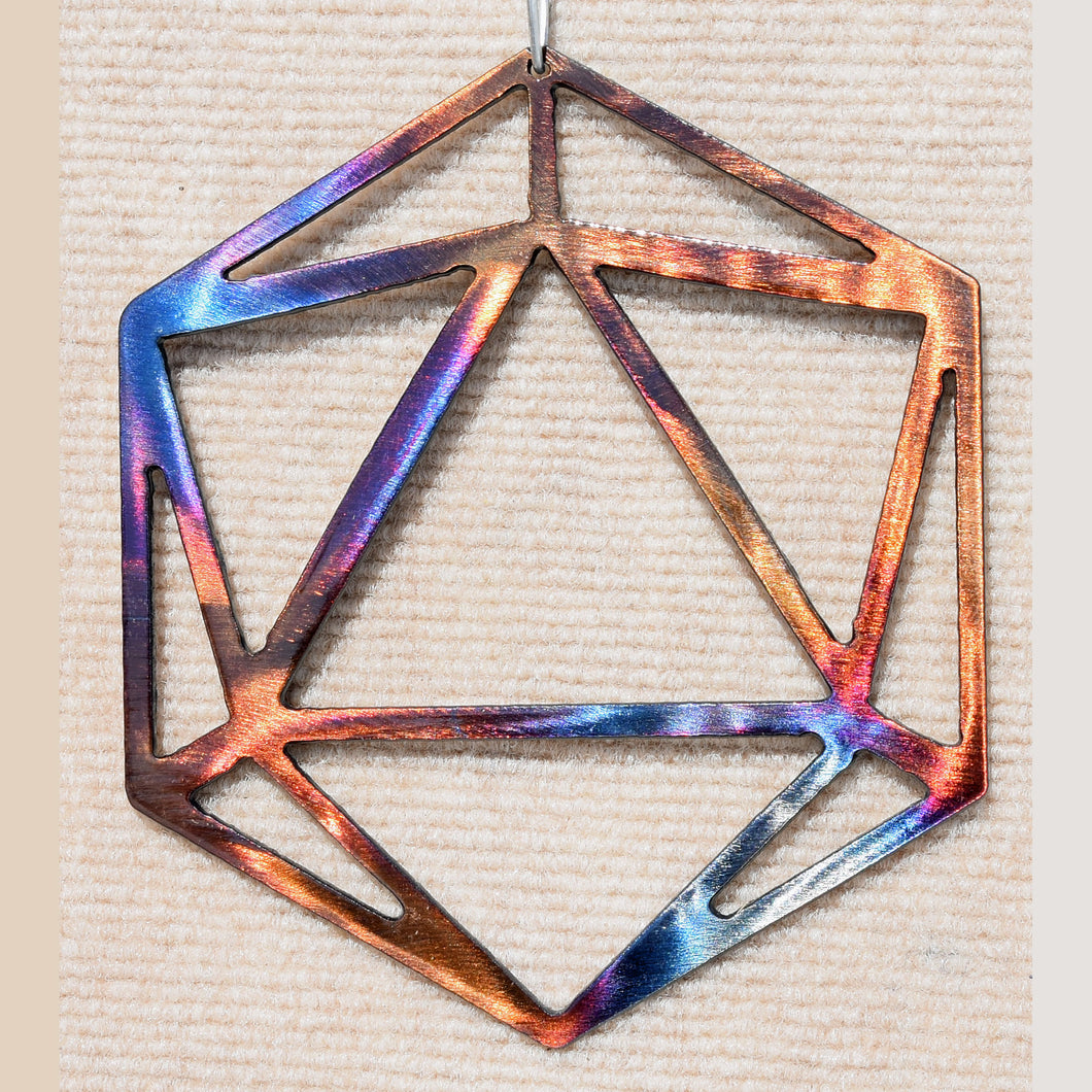 Polyhedron Odesza Symbol Metal Art - Mountain Metal Arts