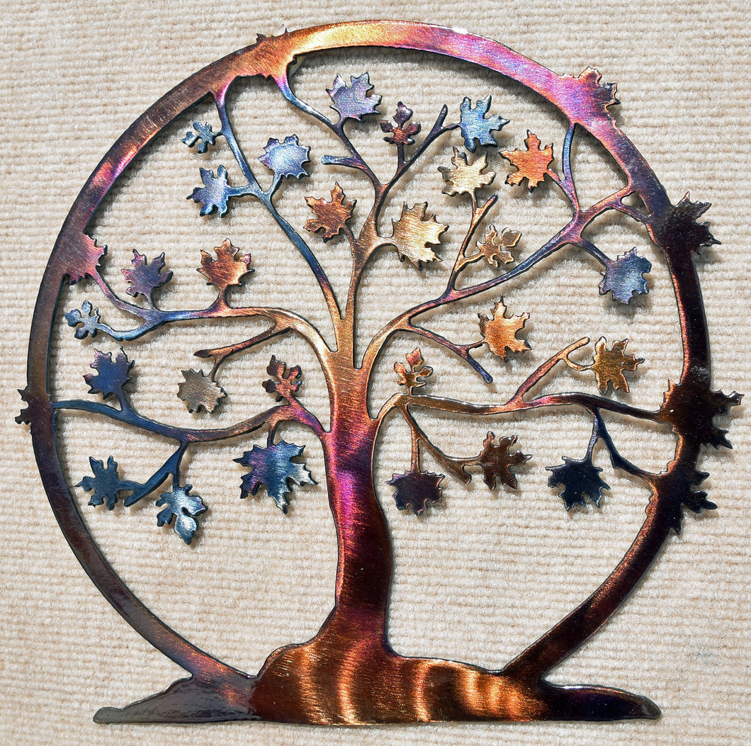 Tree of Life / Family Tree with Maple Leaves